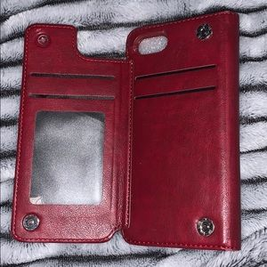 Leather iPhone 7 wallet case
